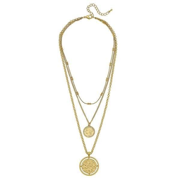 Lara Layered Coin Necklace *Final Sale*