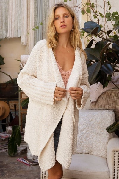 Lovely Pearly White Cardigan