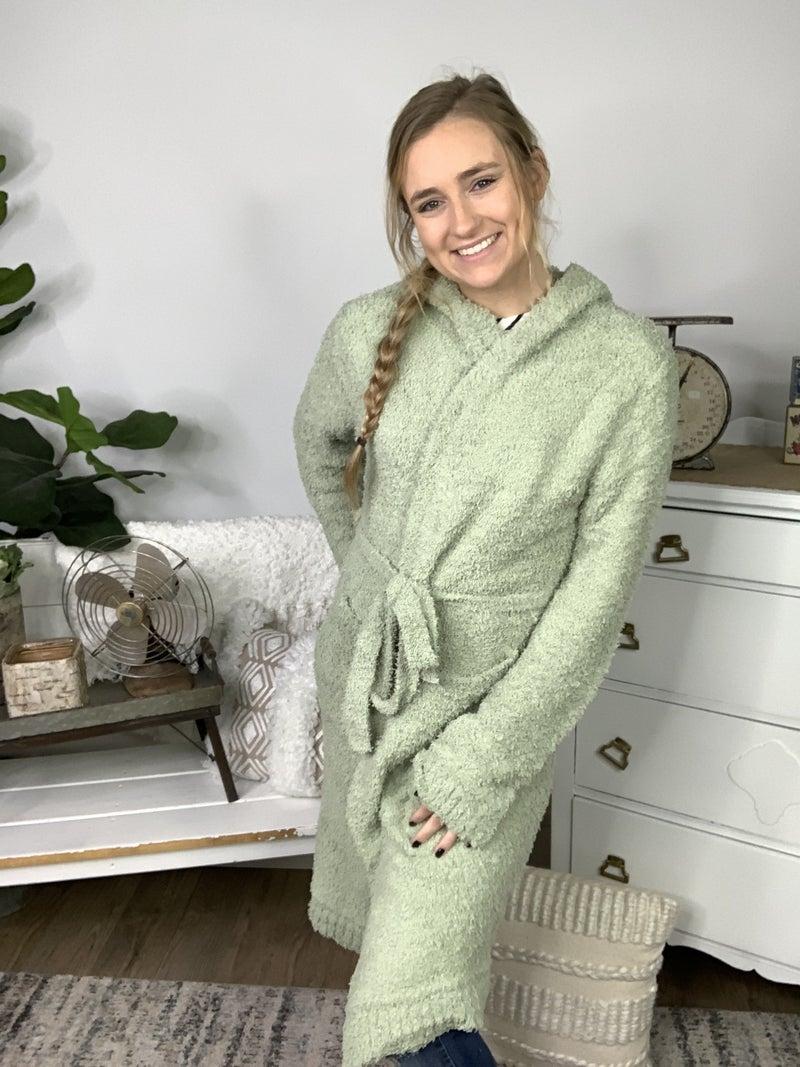Desert Sage Berber Fleece Robe *Final Sale*
