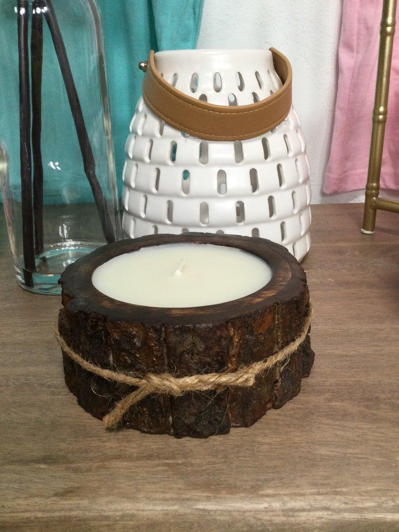 Tobacco Bark Small Tree Bark Pot Candle