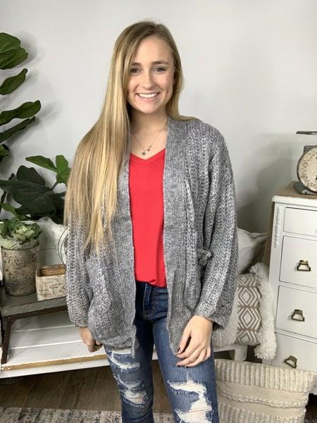 Shallow Grey Sweater Cardigan