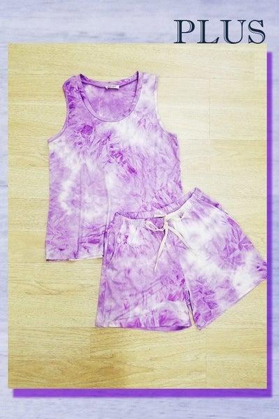 Purple Tie Dye Lounge Shorts *Final Sale*