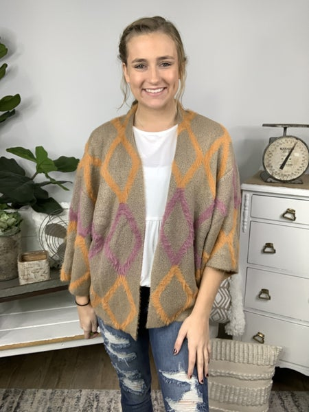 ZigZag Pattern Cardigan *Final Sale*