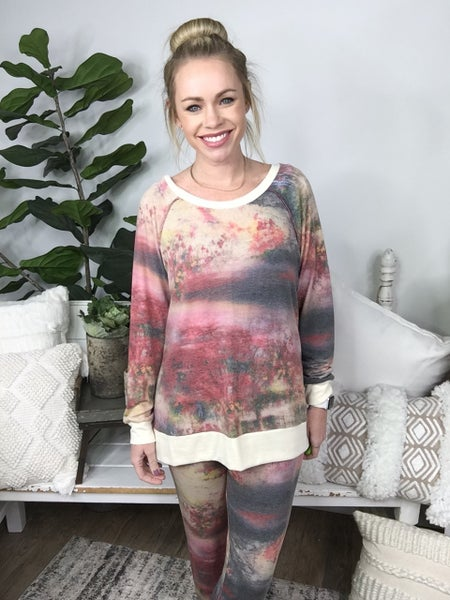 Taupe and Pink Lounge Pants *Final Sale*