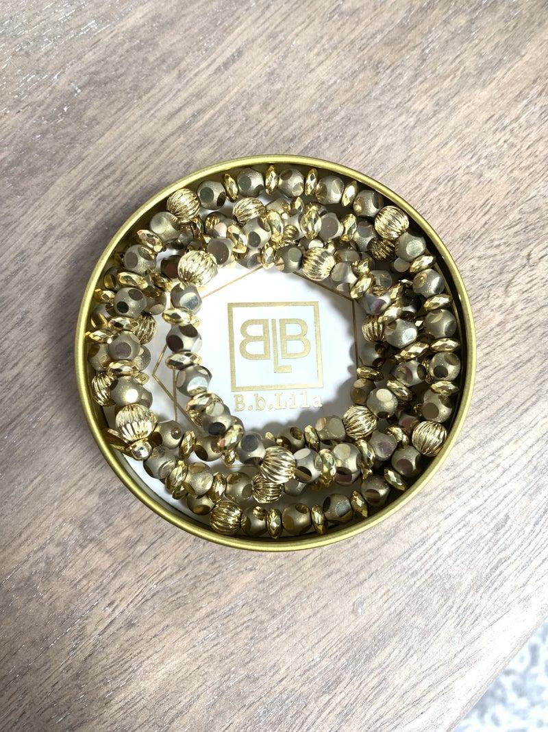 Gold Wrap Bracelet/Necklace/Choker Trio *Final Sale*