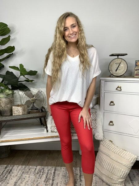 Red Capri Jeggings *Final Sale*