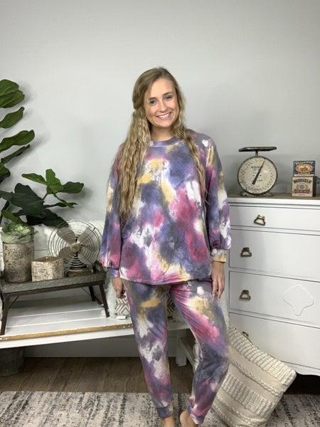 Purple Tie Dye Lounge Weekender Top *Final Sale*