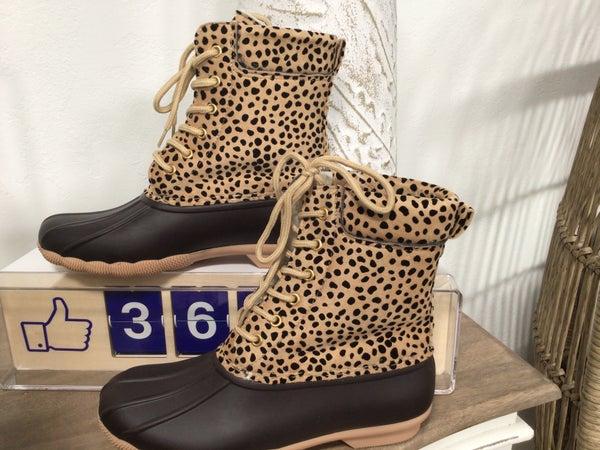 Cheetah Print Duck Boot
