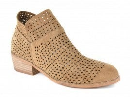 Taupe Laser Cut Bootie *Final Sale*