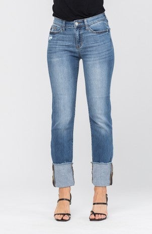 Medium Straight Cuffed Jean