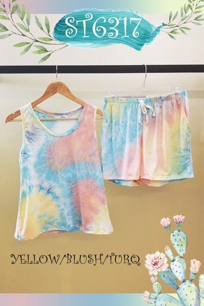 Turquoise/Yellow/Pink Lounge Shorts *Final Sale*