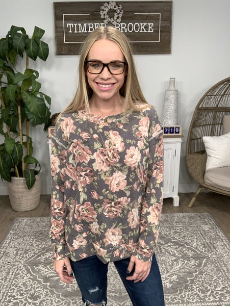 All That Floral Long Sleeve Top