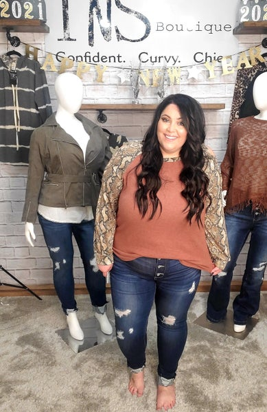 The Kendra Distressed Button Fly Skinnies