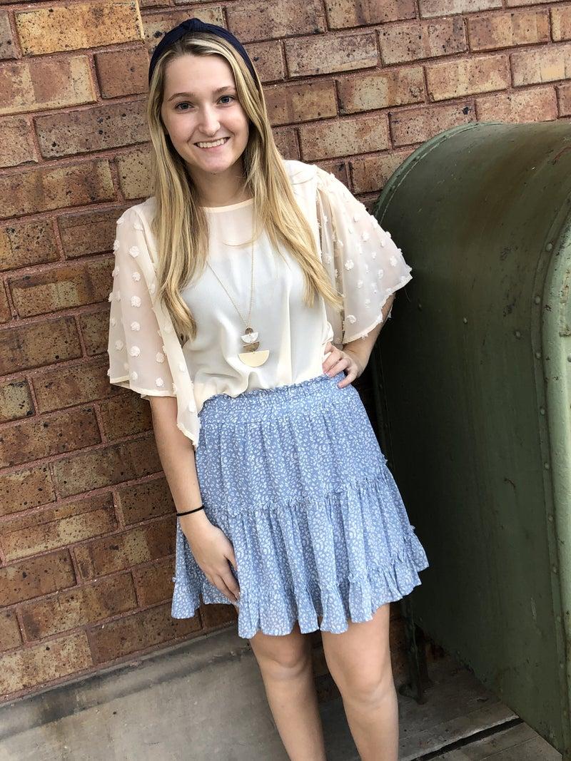 Ruffled tiered skirt