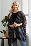 Black Mesh Checkered Kimono
