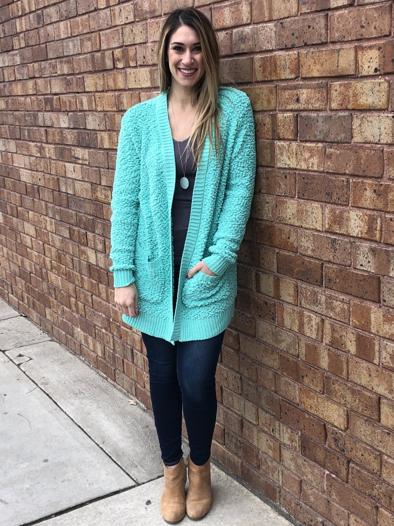 popcorn cardi sweater