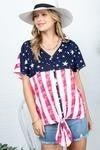 American Flag Tie Top