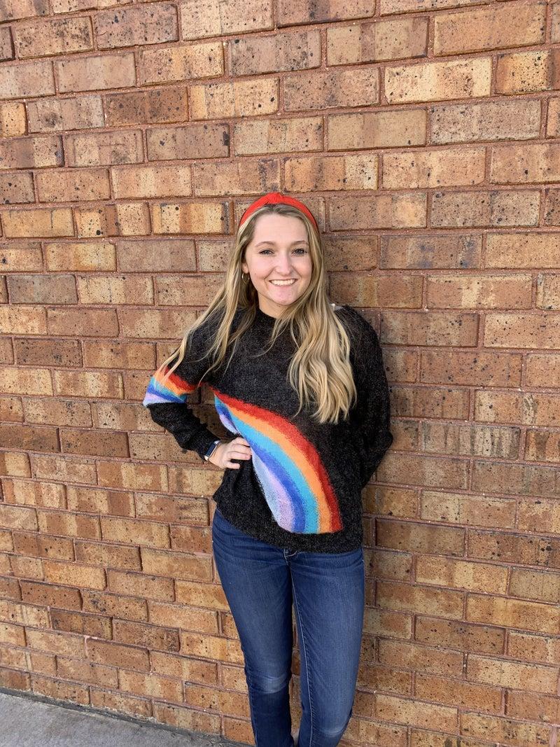 Knit Rainbow Print sweater
