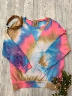 Bright tie dye pullover