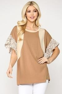 Toffee Printed Tunic Top