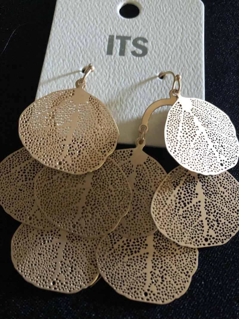 Gold Layered Filigree Earrings