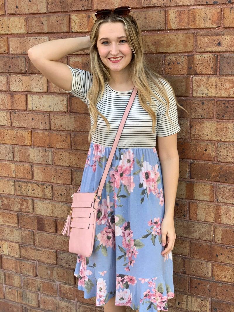 Striped/Floral Dress