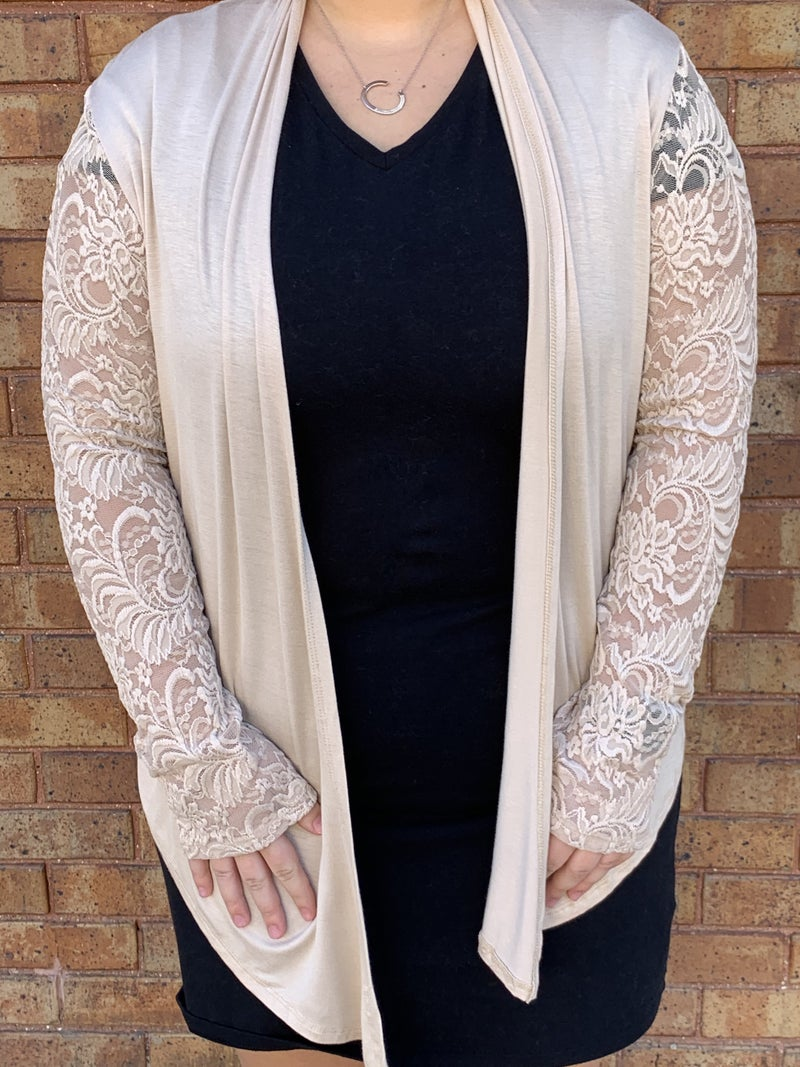 Lace Back and Sleeve Cardi