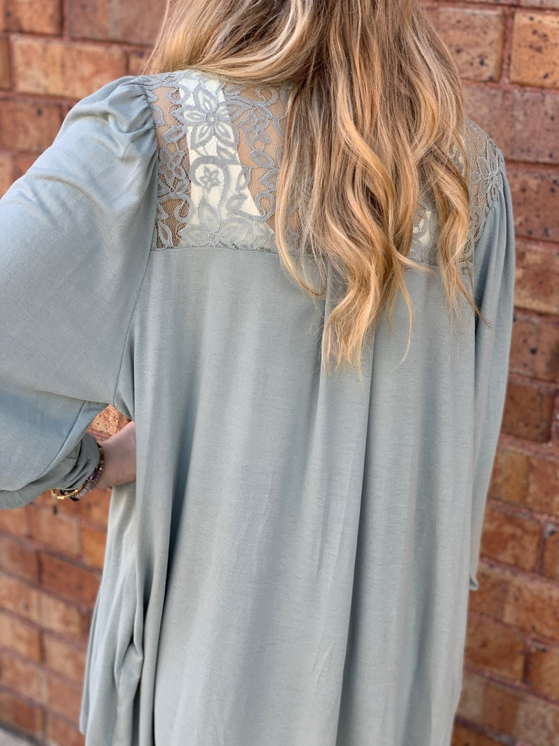 Lace Cardi with Pockets
