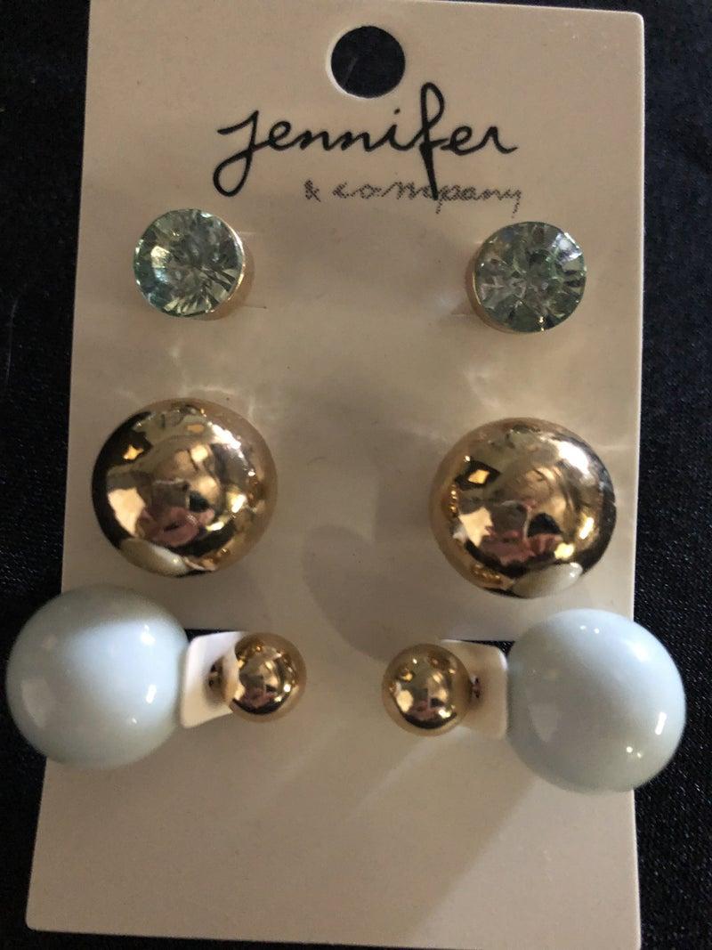 Triple Post Earrings