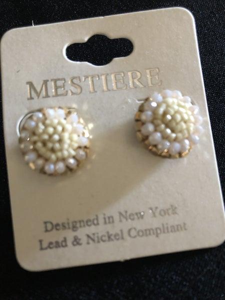 Bead Button Earrings