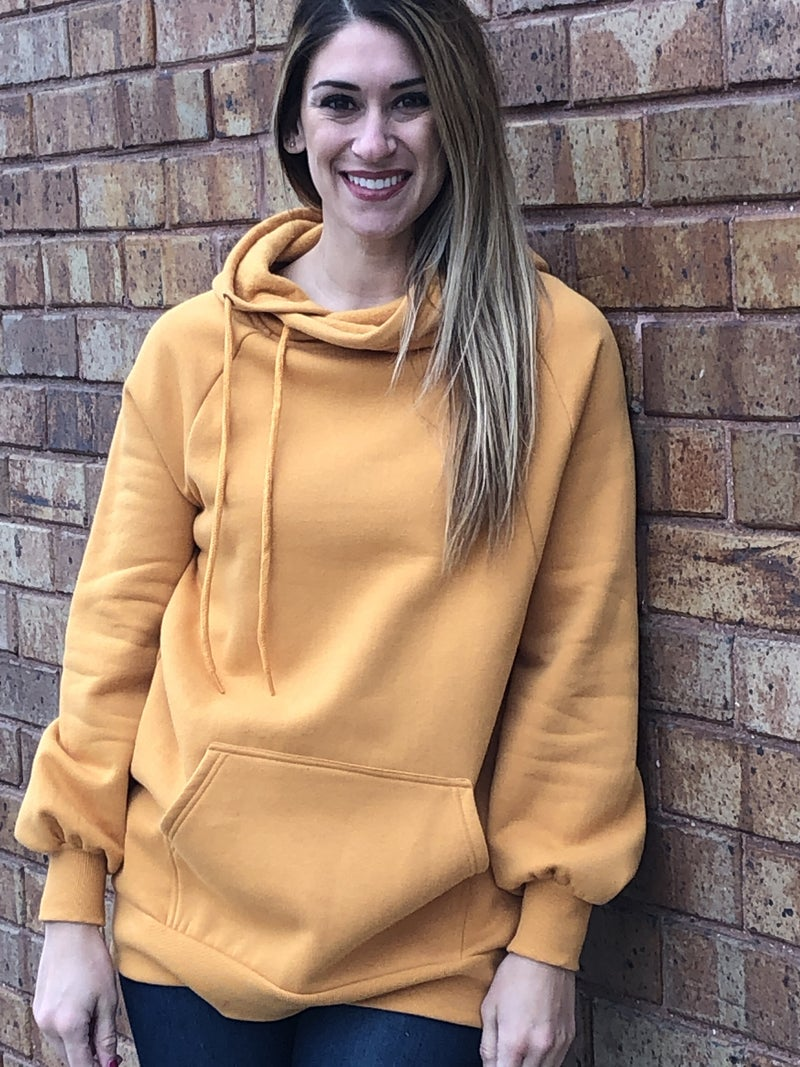 Side tie hoodie with pockets