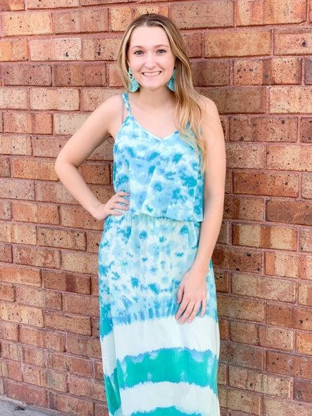 Jade Flow Maxi Dress
