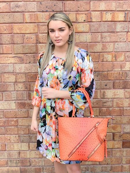 Pastel Floral Lined Boho Dress