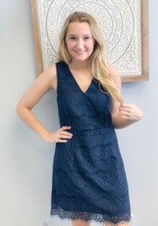 Blue Lace Dress w/ Lining