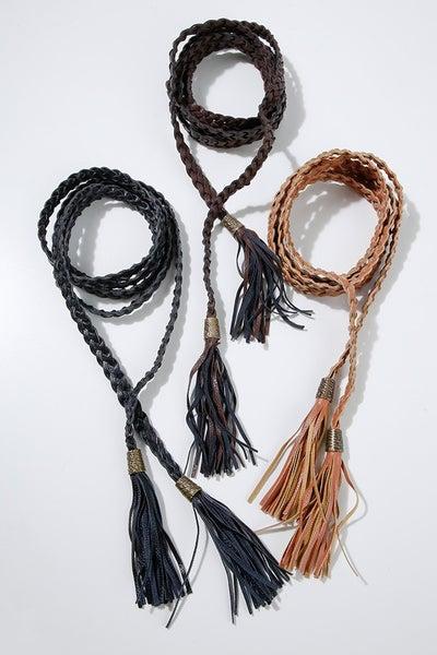 tassel braided belt