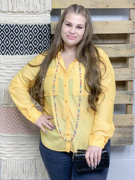 Yellow Button Down Shirt