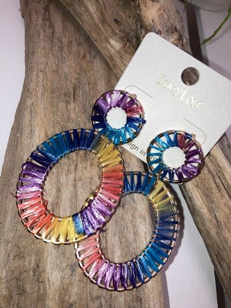 Colorful teardrop earrings