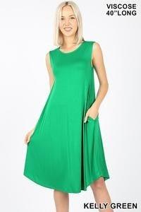 Sleeveless Knee Length Dress