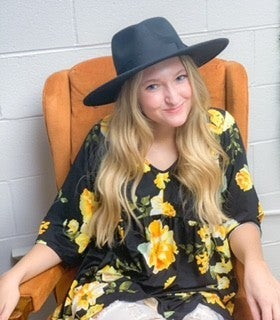 Blk/yellow Floral Babydoll Tunic