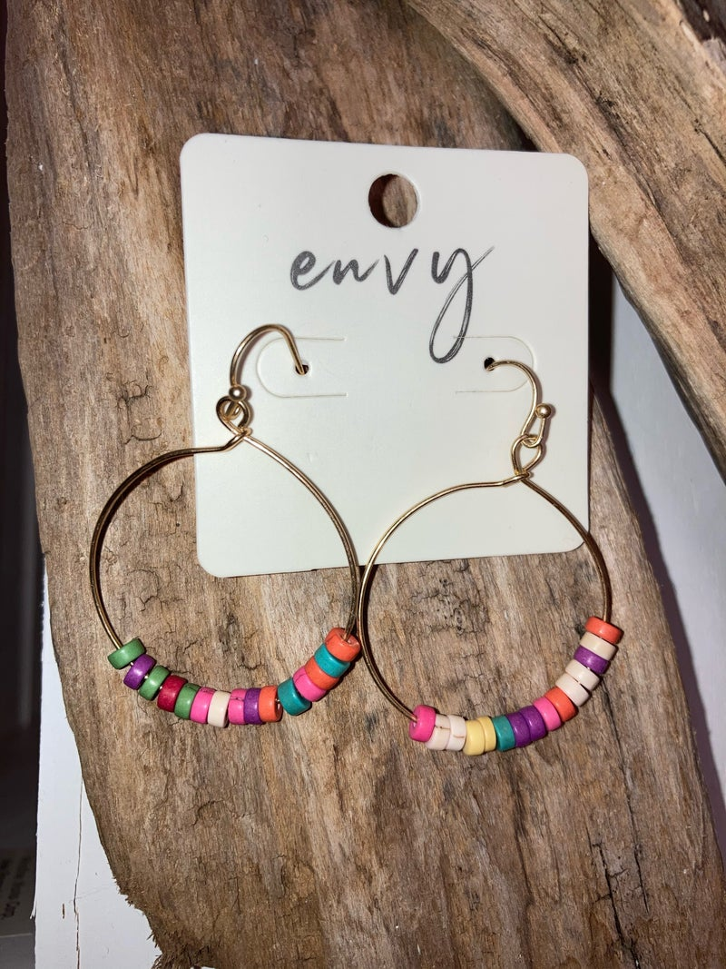 Multi colored hoops