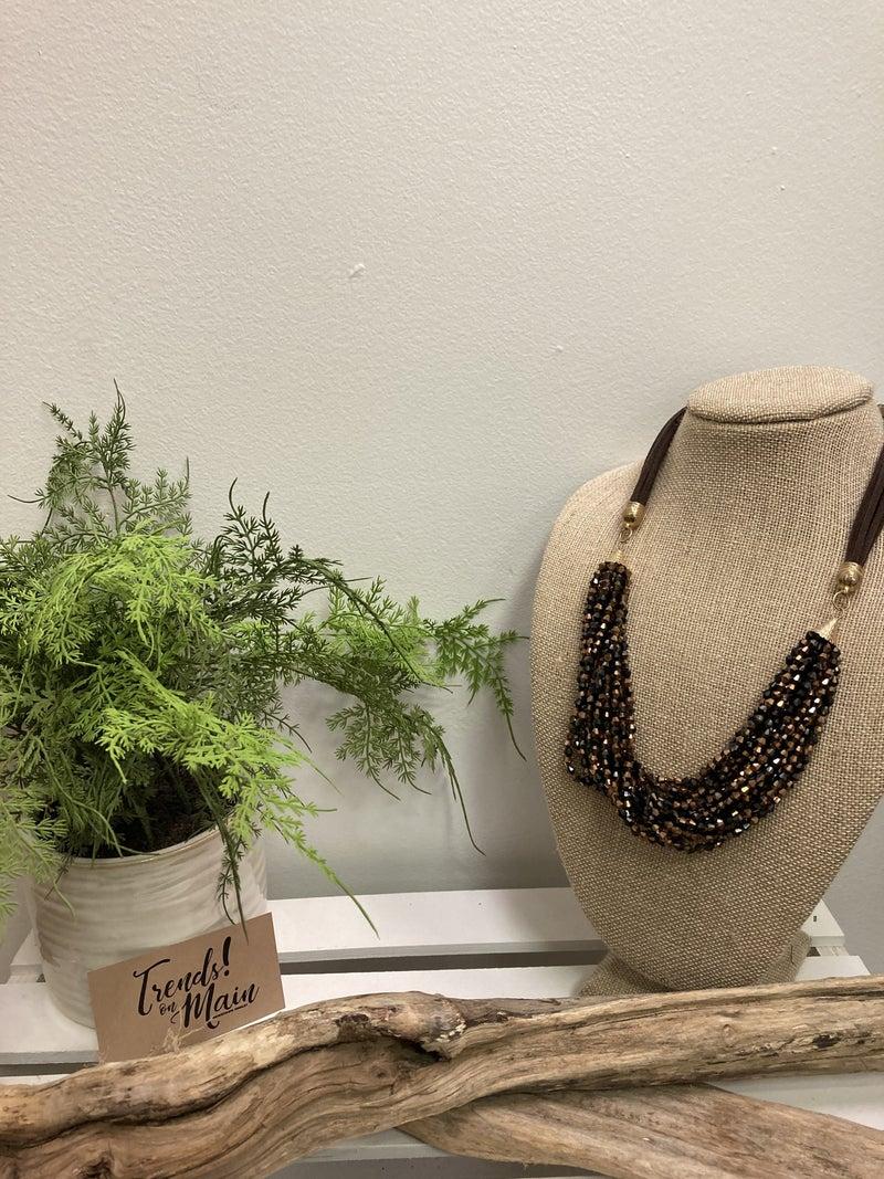 Brown/black multi-strand necklace