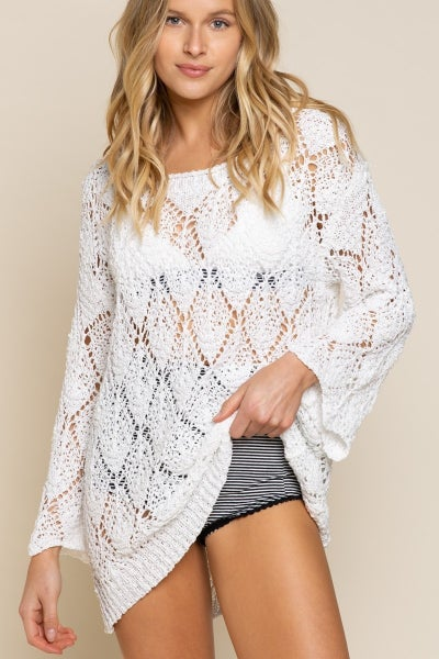 Loose Knit Pure White Sweater