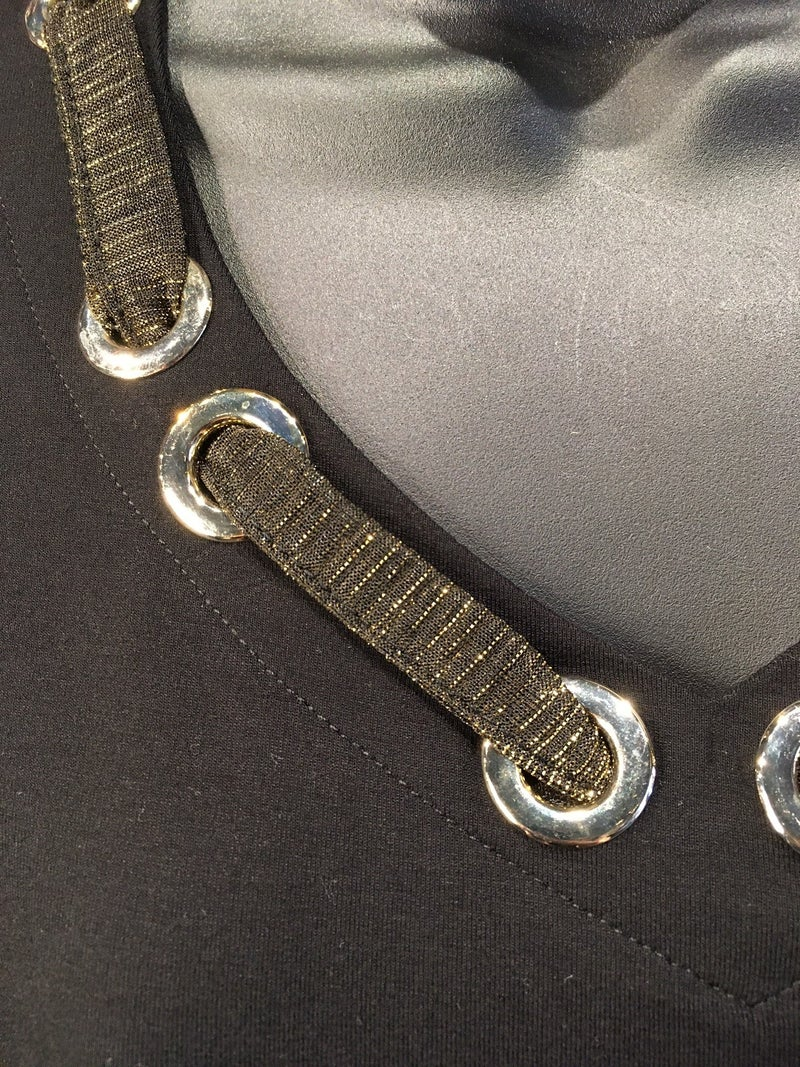 Gold Ribbon Detailed Top