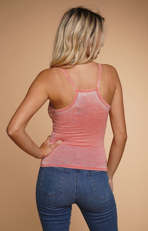 Burnout Oil Washed Tight Cami