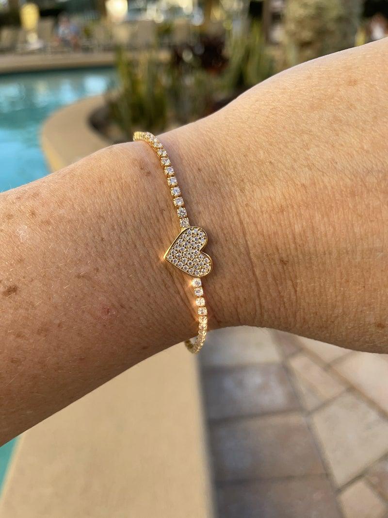 CZ Heart Bracelet