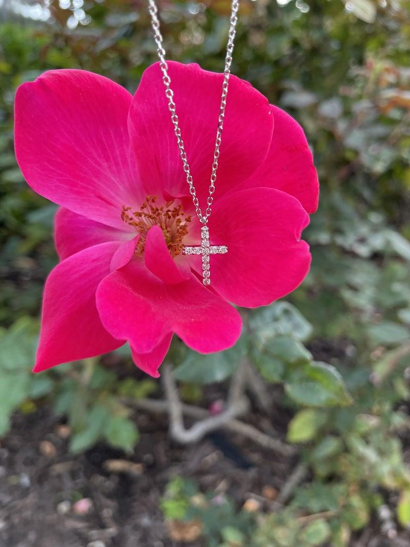 .925 Dainty Cross Necklace