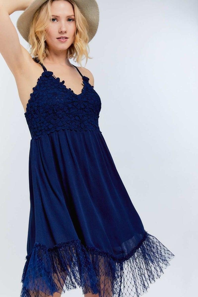 Lace Bodice Mini Dress
