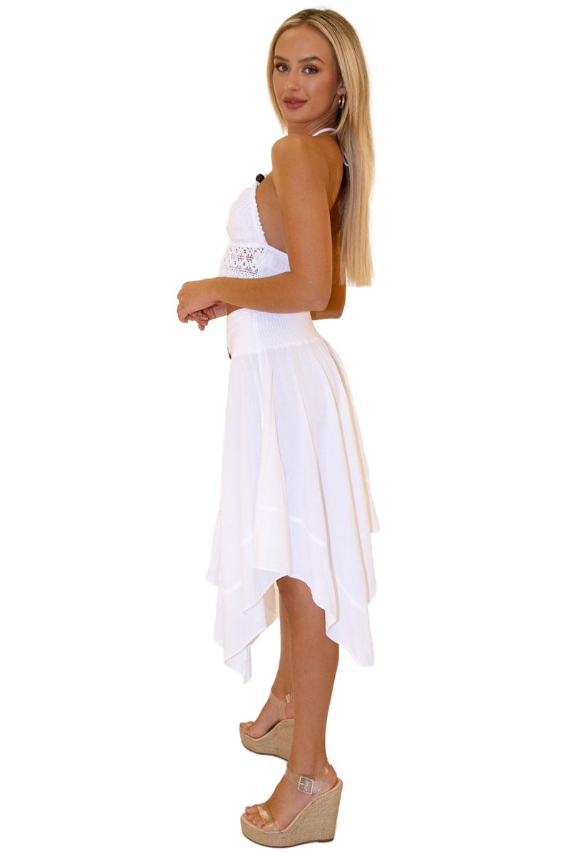 100% White Cotton Skirt
