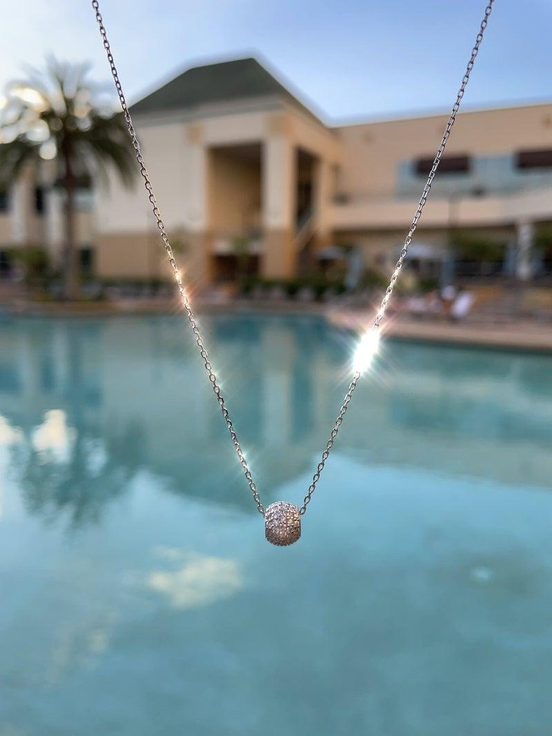 .925 CZ Bead Necklace