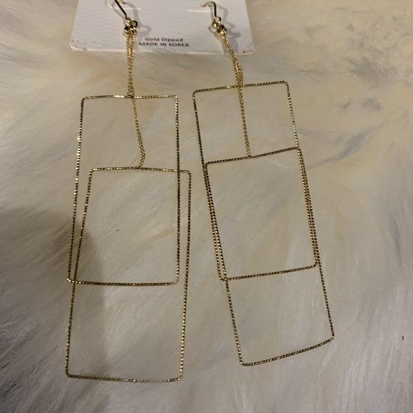 Wire Geometric Earrings